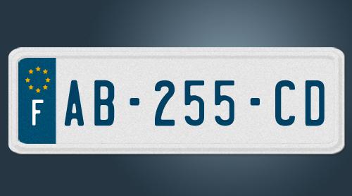 Cr er une plaque d immatriculation automobile garage for Garage plaque d immatriculation