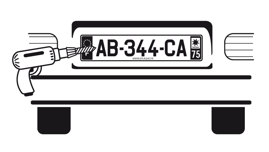 Pose de plaque immatriculation automobile garage si ge for Garage plaque d immatriculation