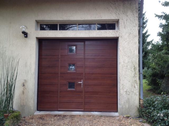 Porte de garage sectionnelle avec portillon michigan - Porte de garage avec portillon lapeyre ...