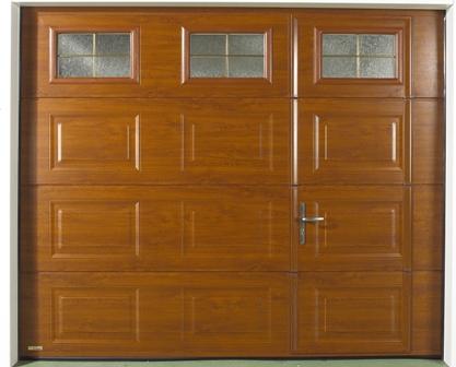 porte de garage avec portillon chene dore automobile garage si ge auto. Black Bedroom Furniture Sets. Home Design Ideas