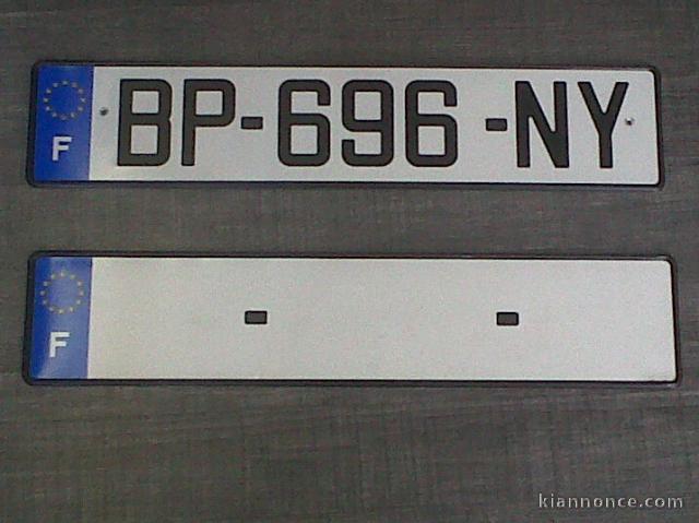 plaque immatriculation sans numero departement automobile garage si ge auto