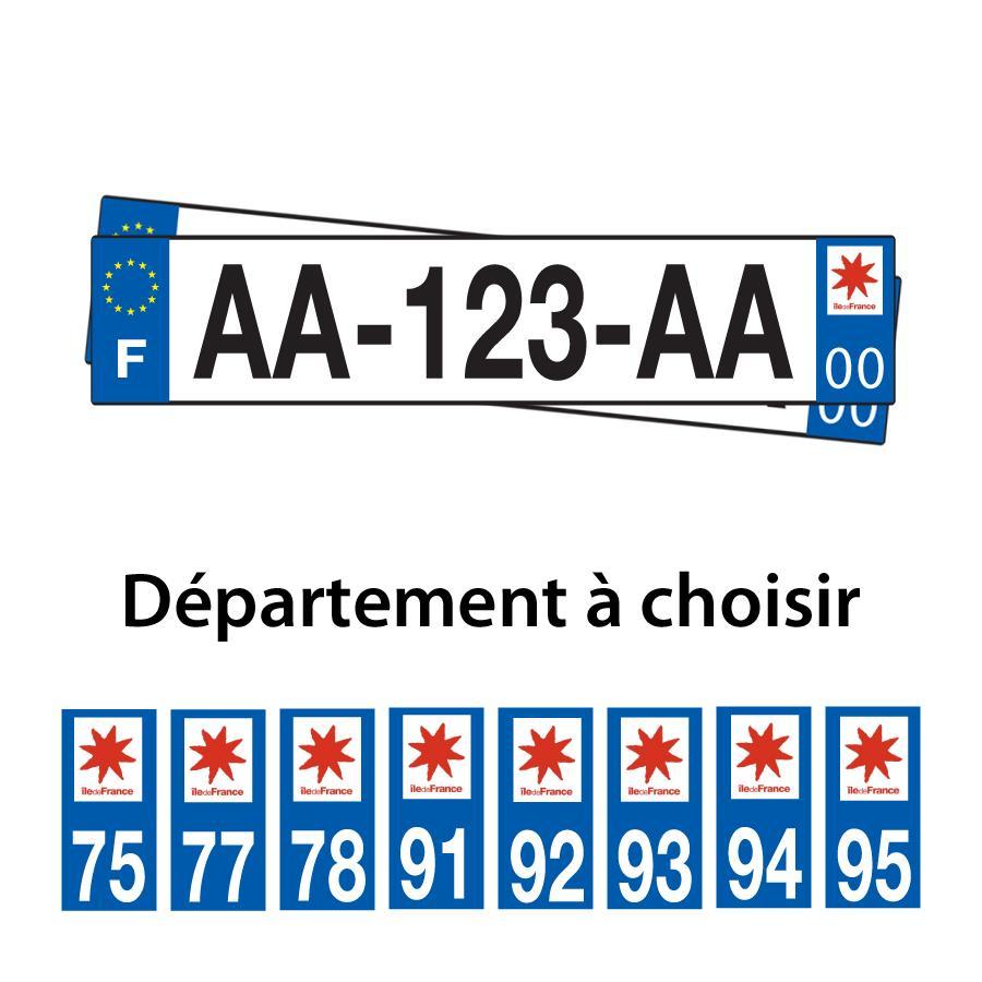 Plaque d immatriculation en france automobile garage for Garage plaque d immatriculation