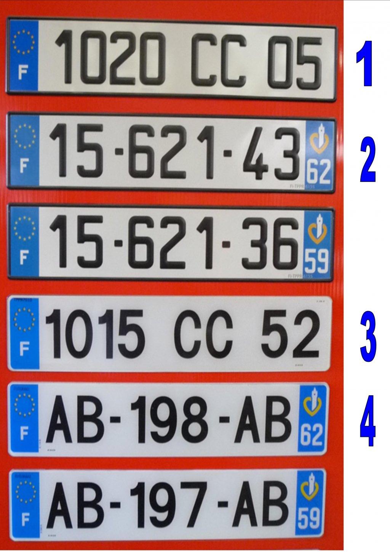 Prix pose de plaque d immatriculation automobile garage for Garage plaque d immatriculation