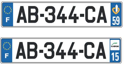 Plaque d immatriculation france automobile garage for Garage plaque d immatriculation