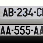Numero plaque immatriculation voiture