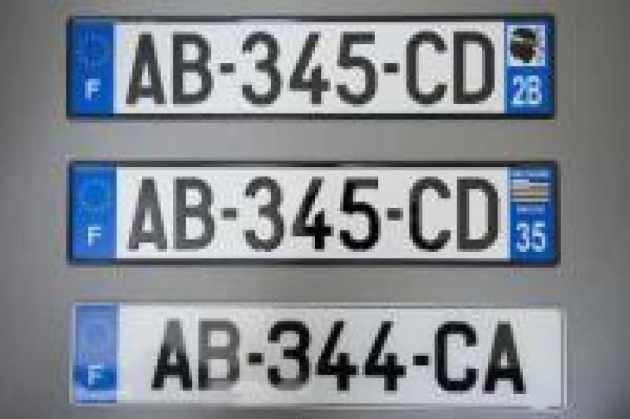 nouvelle plaque immatriculation sans departement automobile garage si ge auto