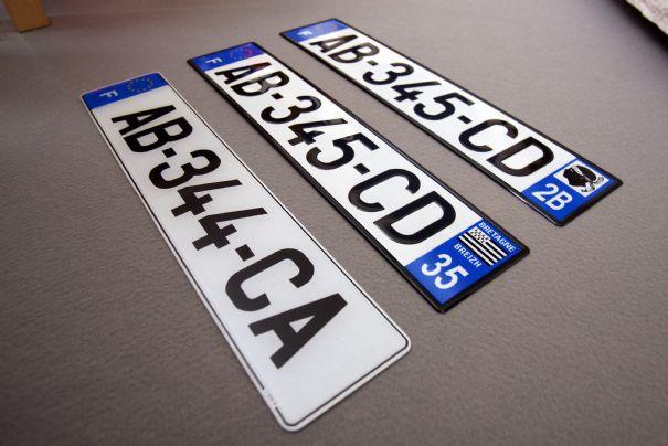 Differente plaque immatriculation automobile garage si ge auto - Garage plaque immatriculation ...