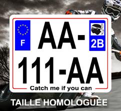 plaque immatriculation moto homologu e automobile. Black Bedroom Furniture Sets. Home Design Ideas