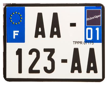modele plaque immatriculation moto automobile garage si ge auto