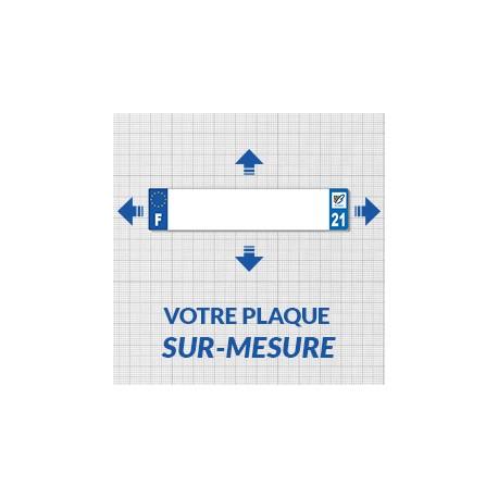 Plaque immatriculation petit format automobile garage - Plaque plexiglass sur mesure ...