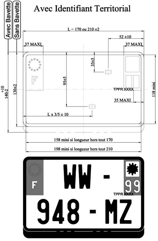 dimension plaque immatriculation voiture automobile garage si ge auto. Black Bedroom Furniture Sets. Home Design Ideas