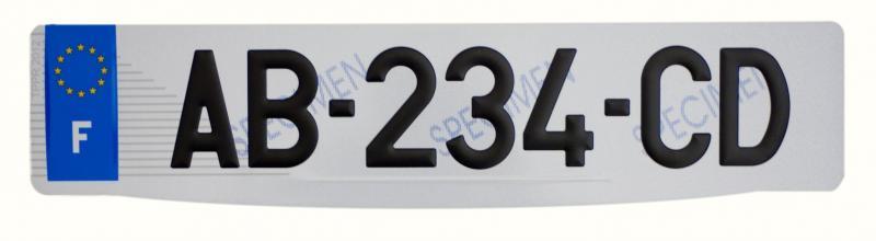 Nouvelle plaque d immatriculation sans departement for Garage plaque d immatriculation