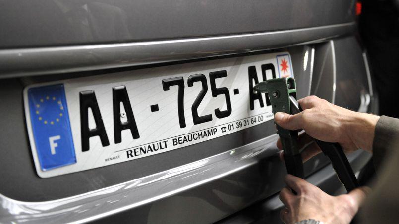 Commander des plaques d immatriculation automobile for Garage plaque d immatriculation