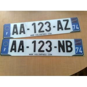 Plaque immatriculation plexi automobile garage si ge auto for Garage plaque d immatriculation