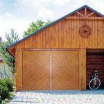 Porte de garage basculante imitation bois